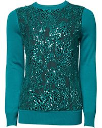 Matthew Williamson Embroidered Lace Knit Jumper - Lyst