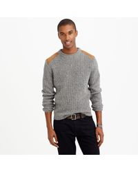 J.Crew Wallace  Barnes Shoulder-patch Sweater - Lyst