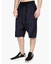 Y-3 Men'S Black Jacquard Shorts black - Lyst