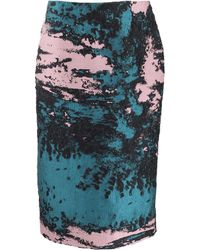 MSGM Jacquard Textured Pencil Skirt - Lyst