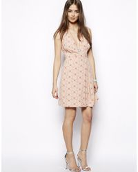 Max C - Max C Wrap Front Dress in Bow Print - Lyst