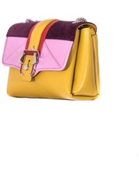 "Paula Cademartori Ocher Leather And Suede ""Carine"" Bag multicolor - Lyst"