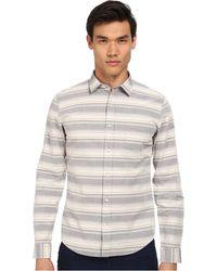 Vince Striped Melrose Long Sleeve Button Up Shirt - Lyst