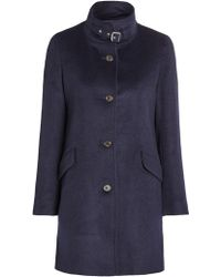 Lauren by Ralph Lauren - Balmacaan Wool-blend Coat - Lyst