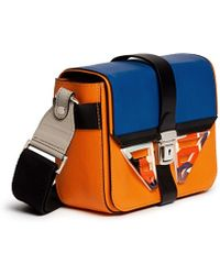 MSGM Acetate Wing Colourblock Leather Bag multicolor - Lyst