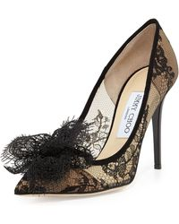 Jimmy Choo Duchess Lace Bow Pump - Lyst