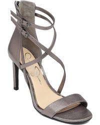 Jessica Simpson Myelle High-Heel Leather Sandals - Lyst