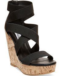 Steve Madden Women'S Abbby Platform Wedge Sandals - Lyst