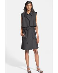 Tracy Reese - Sleeveless Stretch Cady Trench Coat - Lyst