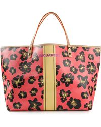 DSquared2 Floral Print Shopper - Lyst