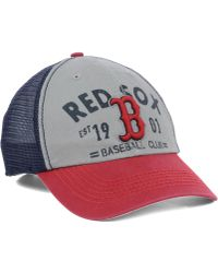47 Brand Boston Red Sox Flathead Cap - Lyst