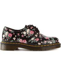 Dr. Martens  Floral Print Lace Up Shoes - Lyst