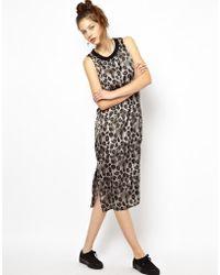 Cheap Monday Midi Dress in Leopard Print - Lyst
