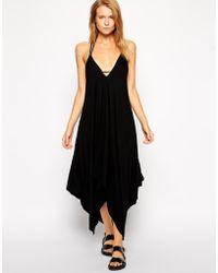 Asos Scarf Hem Jersey Beach Dress - Lyst