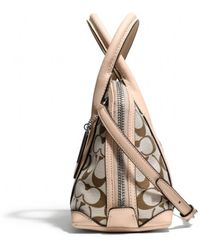 Coach Bleecker Mini Preston Satchel in Printed Signature Fabric - Lyst
