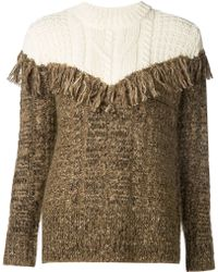 Thakoon Addition - Fringe Pullover - Ivory/brown - Lyst