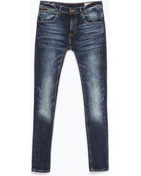 Zara Skinny Jeans blue - Lyst