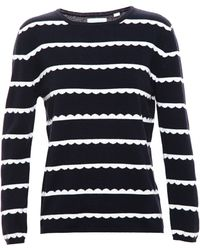 Chinti & Parker Cashmere Jumper With Scalloped Stripe - Lyst