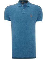 Polo Ralph Lauren Custom Fit Short Sleeve Mesh Polo Shirt - Lyst