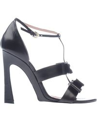 Nina Ricci Black Sandals - Lyst