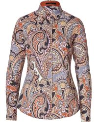 Etro Cotton Paisley Print Buttondown - Lyst