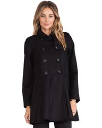 RED Valentino Wool Pea Coat - Lyst