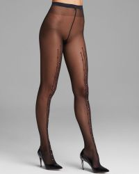Wolford Black Angelina Tights - Lyst