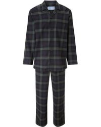 John Lewis - Blackwatch Check Brushed Cotton Pyjamas - Lyst