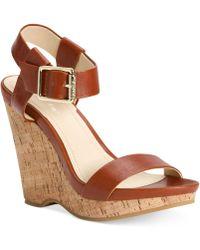 Calvin Klein Womens Nikole Platform Wedge Sandals - Lyst