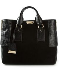 Burberry Signature Suede Tote Bag - Lyst