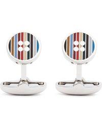 Paul Smith | 'multi Stripe Button' Cufflinks | Lyst