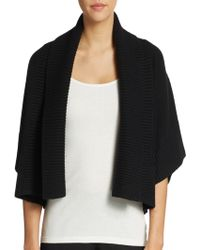 Michael Kors Cropped Cashmere & Wool Shawl Cardigan - Lyst