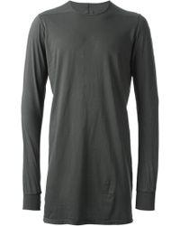 DRKSHDW by Rick Owens Gray Long Tshirt - Lyst
