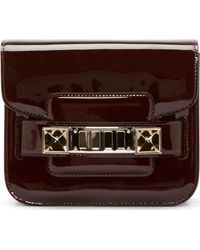 Proenza Schouler Pinot Noire Burgundy Patent Ps11 Tiny Shoulder Bag - Lyst