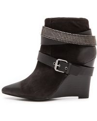 Joe's Jeans - Andy Studded Wedge Booties - Black - Lyst