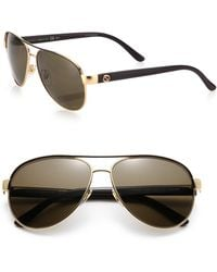Gucci | 58mm Aviator Sunglasses | Lyst
