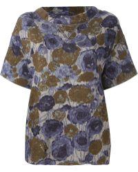 Erika Cavallini Semi Couture - 'Filippa' Sweatshirt Top - Lyst