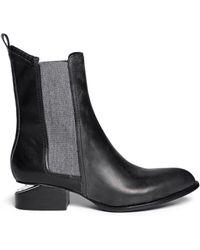 Alexander Wang 'Anouck' Cutout Heel Leather Chelsea Boots - Lyst