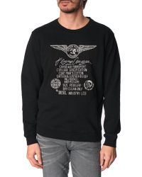 Diesel Pur Black Embroidered Sweater - Lyst