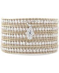 Chan Luu - Silver Bead Wrap Bracelet - Lyst
