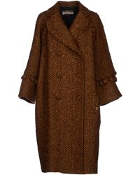 John Galliano Brown Coat - Lyst