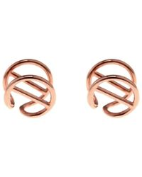 Coops London - Bar-Circle Gold-Plated Earlobe Cuffs - Lyst
