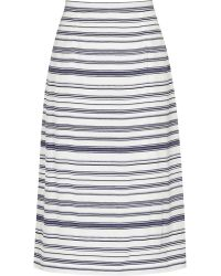 Reiss Delia Stripe-Print Skirt blue - Lyst