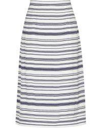 Reiss Delia Stripe-Print Skirt - Lyst
