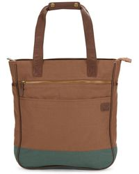 Original Penguin - Leather-trimmed Tote Bag - Lyst