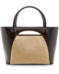 J.W. Anderson Moon Color-Blocked Leather Tote - Lyst