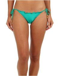 Vix Solid Green Ripple Tie Brazilian Bottom - Lyst