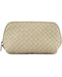 Bottega Veneta Medium Woven Cosmetics Bag - Lyst