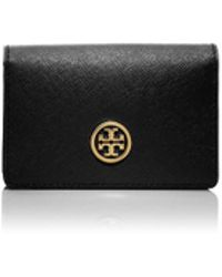Tory Burch Robinson Foldable Card Case - Lyst