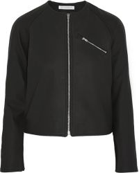 J.W. Anderson Cropped Matteleather Jacket - Lyst